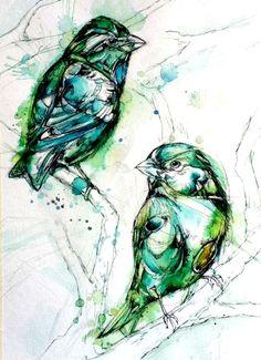 I really like this :-))   Shades of Green by Abby Diamond.