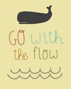 go with the flow - etsy print