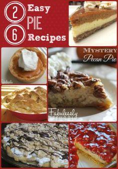 26 easy pie recipes