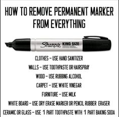 Marker removal
