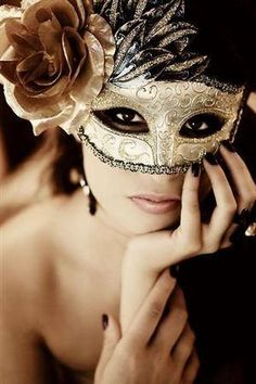 Pose and mask are amazing. Need to see more breast masquerade ball, venetian masks, party themes, masquerade masks, masquerade costumes, black gold, mardi gras, parti, masquerade party