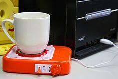 Una mini hornalla o calentadora de café con USB muy práctica para cuando te colgás haciendo algo y dejás tu taza de lado. ¡No más café frío!. Foto:usbt.net
