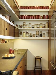 Pantry with countertop