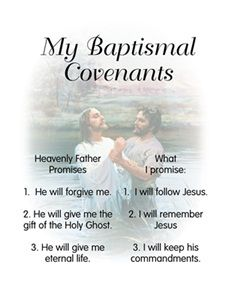 Baptism Covenant Poster, would be good in a smaller size to keep inside scriptures