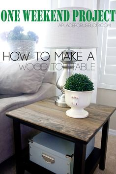 Make a wood top side table