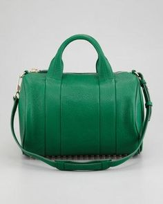 Alexander Wang Women's Alexander Wang Rocco Stud-Bottom Duffel Bag, Green
