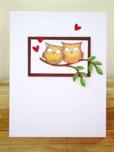 Love birds anniversary card