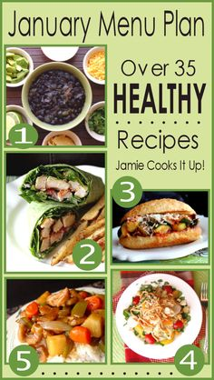 January Menu Plan 2014 (Over 35 Healthy Recipes!) from Jamie Cooks It Up!