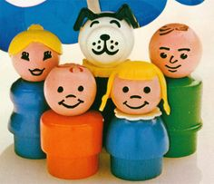 The Little People  My best friends in the 70's! - oh how I loved these guys and my fisher price doll house