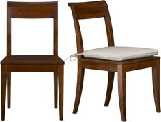 Cabria Honey Brown Side Chair and Cushion  | Crate and Barrel
