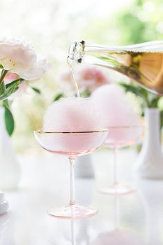 Cotton Candy Champagne Cocktails Stone & Living - Immobilier de prestige - Résidentiel & Investissement // Stone & Living - Prestige estate agency - Residential & Investment www.stoneandliving.com
