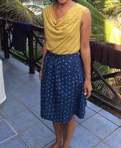 Liesl & Co. Everyday Skirt in Nani Iro by nightknitter