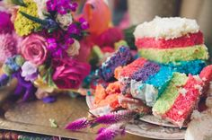 rainbow. colorful flowers, flower cakes, rainbow cakes, colourful wedding, colorful cakes, bohemian weddings, wedding cakes, rainbow wedding, colorful weddings