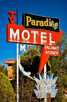 Paradise Motel. 2202 W. Route 66 Blvd., Tucumcari NM. On Route 66.