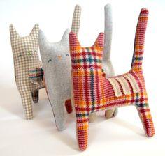 catsbeauti skirt, wool cat, sewing animals, fabric cat, penguin, blankets, sew animals, kitty, blues