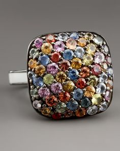 Pave Square Ring by MCL by Matthew Campbell Laurenza at Bergdorf Goodman.