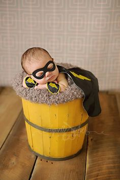 Black Newborn Superhero Outfit - Cape Mask and Wrist Cuffs - Halloween Costume Photography Prop for Infant Baby Boy on Etsy, $60.00