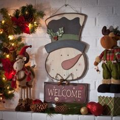 Welcome your guests with our new Wooden Snowman Welcome Sign!! Hang this cheerful sign outside on your front porch and spread the holiday cheer to anyone who walks through your door! #Kirklands #Home #Decor #Welcome #Snowman