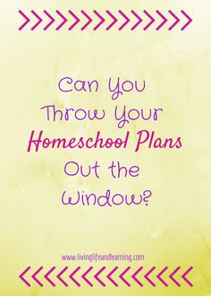 Sometimes things don't go the way you planned. Can You Throw Your #Homeschool Plans Out the Window?