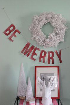 DIY Holiday Banner #Christmas