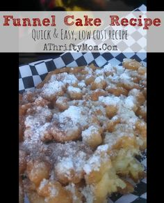 Funnel cake Recipe,