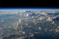 Clouds Cast Thousand-Mile Shadows into Space When Viewed Aboard the International Space Station  http://www.thisiscolossal.com/2014/09/alexander-gerst-cloud-shadows-iss/