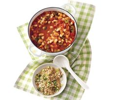White Bean Chili With Jalapeno Bulgur