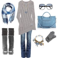 cozy blue and gray