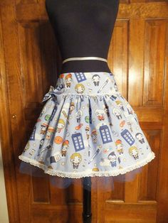 Doctor Who Skirt - I need to find this fabric!