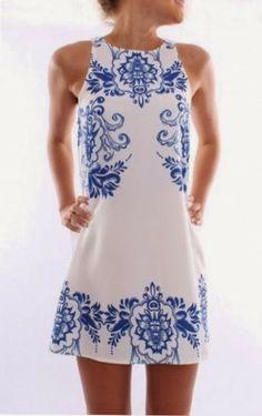 Simple cute sleeveless floral detail mini dress