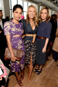See all of the stylish celebrities sitting front row at New York Fashion Week.