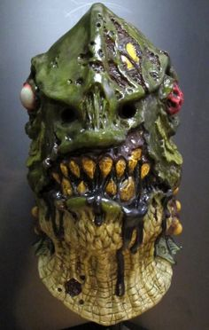 Walking Dead Zombie Fish Lagoon Creature Sea Monster Halloween Mask.  This is an amazing full, over the head fish monster mask like no other that would scare the scales off the Creature from the Black Lagoon. $72.00.  Free U.S. Shipping.