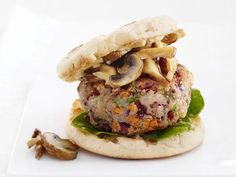 Veggie Burgers with Mushrooms #GrillingCentral