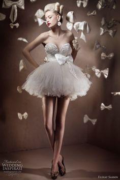 elihav sasson #wedding #dress.  great for the #reception.