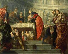 La presentación de Jesús en el templo, Tintoretto, 1550, óleo sobre lienzo, Gallerie dell'Accademia de Venecia, Italia, Jorge García Jurado.