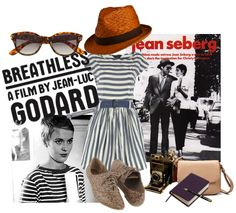Style page I created Inspired by the French New Wave // #shopGAVIN - #StyleBySchnursays - #FrenchNewWave - #Style