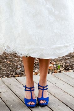 Photography by jamiegrenoughphotography.com wedding dressses, wedding shoes, blue suede shoes, wedding blue, blue shoes, dream wedding, something blue, blue weddings, electric blue