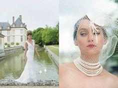 wedding dress, veil / vestido de novia y velo