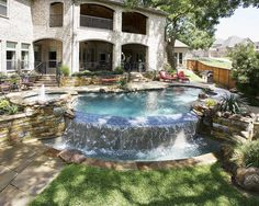 One of the amazing pools we created. Visit our website to see more! http://www.riverbendsandlerpools.com/