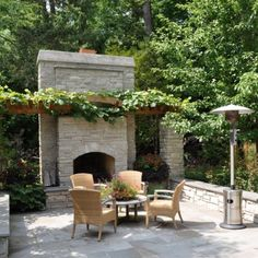 outdoor fireplace #patio