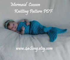 Baby mermaid tail crochet pattern.