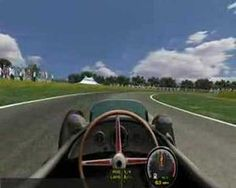 Virtual lap of Aintree GP in a Mercedes W196