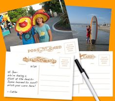 paper craft, craft tutori, photo postcard, postcard templat, paper trim