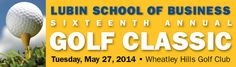 The Sixteenth Annual Lubin Golf Classic is on May 27. Join us and support special projects and scholarships for the Lubin School of Business. www.pace.edu/lubingolf