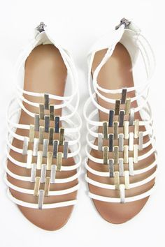 CAMILA STRAPPY SANDAL - White - so cute!!!