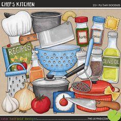 kitchens, hadfield design, kate hadfield, chef scrapbook, scrapbook doodl