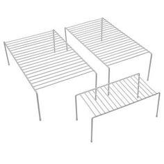 Mainstays Helper Shelves, White, 3pk