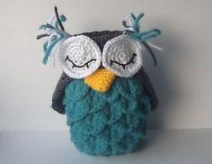 Crocodile Stitch Crochet Owl.