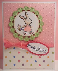 card idea, polka dots, card designs, easter card, card easter