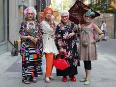"ADVANCED STYLE: ""More is More and Less is a Bore"" older women old people mature age fashion middle aged"